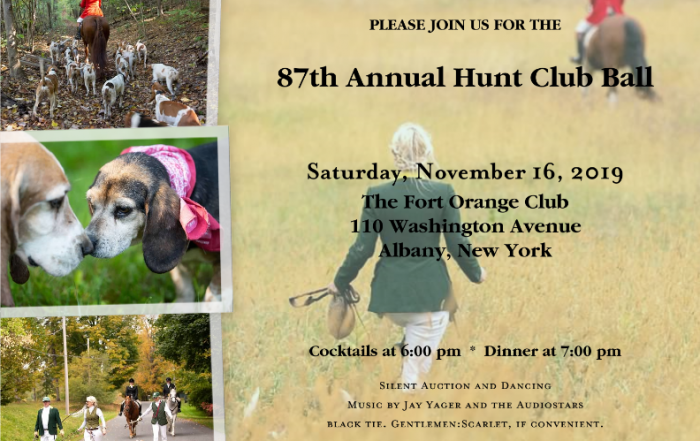 hunt ball invite 2019